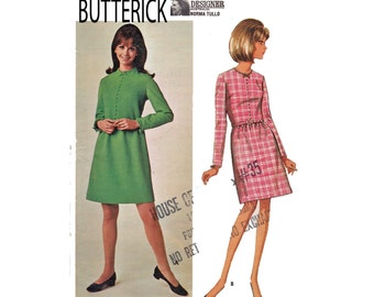 1960s Norma Tullo Young Designer series Butterick 4519 Size 10 Bust 31 dress designer vintage sewing pattern Misses ladies women