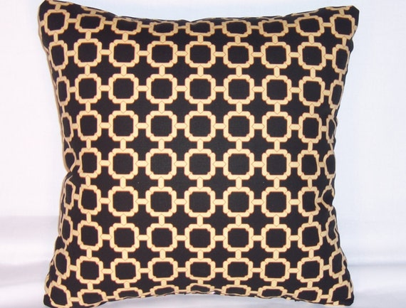 Black And Ivory Throw Pillows : Chain Links Throw Pillow Black Ivory Geometric Swavelle Rowley