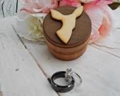 Doe Ring Box Country Wedding Camo Wedding Buck and Doe Wedding Decor Rustic Wood Ring Box