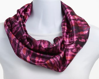 Infinity scarf - Raspberry Fuschia abstract ~ SK198-S5