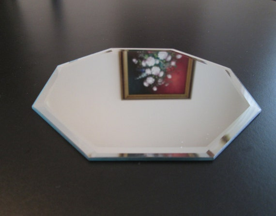 Beveled Mirror 4 Inch Octagon Glass Coaster Jewelry