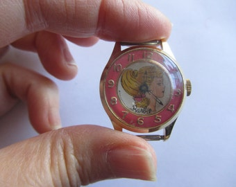 Vintage Barbie Watch by Mattel 1964 Pink