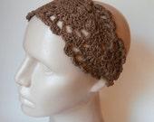 Crochet Headband - HeadBand - Hair Accessories - Crochet HairBand in Brown