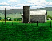 "Brittany Kittler Custom Listing for Shenandoah Valley Farm 25"" x 20"" unframed"