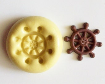 Wheel mini mold #1058 - silicone  mold, craft mold, porcelain mold, jewelry mold, food mold, pop up mold, clays mold, flexible mold