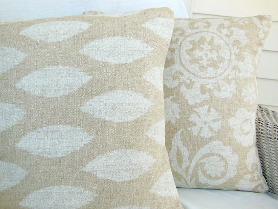 Beige Pillows Tan Decorative Pillows Throw Pillow by SeamsToMe23