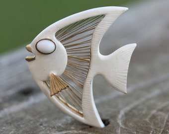 Mid Century Angel Fish Brooch or Pin