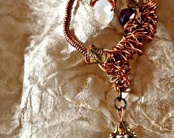 SOFIA Wire Wrapped Copper Pendant