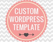 Custom Wordpress Theme with Matching Facebook Cover and Profile Image and Business Card