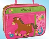 Lunchbox - Personalized and Embroidered - Fully Insulated - HORSE