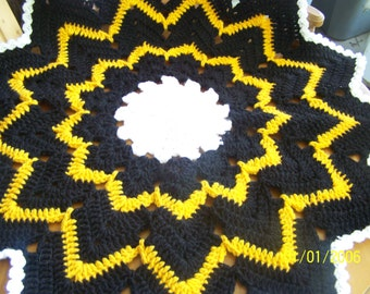 Pirates, Penquins, Steelers team colors doily set plus coasters