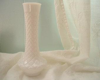 White Milk Glass Vase, Milkglass Vase