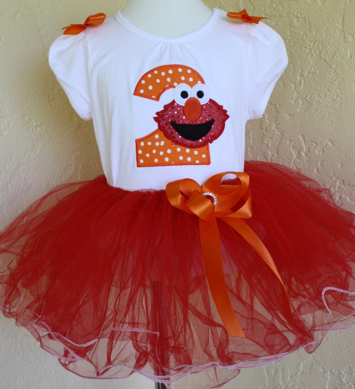 Girls Birthday Tutu Set Elmo 1st 2nd 3rd 4th Birthday