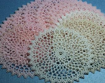 1 Vintage Small Plastic Lace Doily