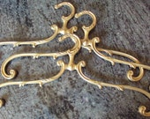 One Antique French Brass Art Nouveau Coat Hanger Heavy Decorative also for Skirts and Trousers Unisex Gift