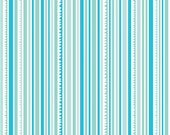 End of Bolt Riley Blake Sunny Happy Skies Blue Stripe 22 inches
