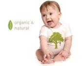 Organic monkey onesie t-shirt, monkey baby clothes, baby boy or baby girl