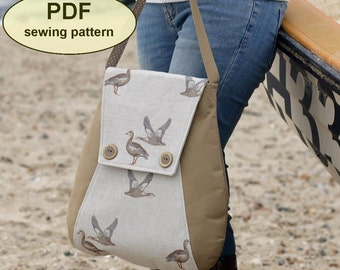 New: Sewing pattern for Caistor Courier Bag - PDF pattern INSTANT DOWNLOAD - messenger bag