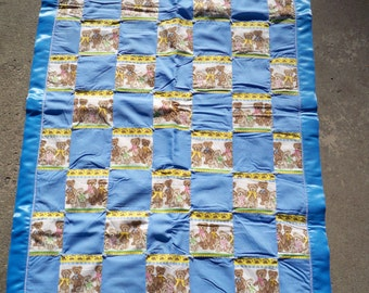 Blue Teddy Bears Baby Quilt