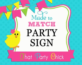 Made to Match Personalized Door Sign, Yard Sign, Chair Sign Printable