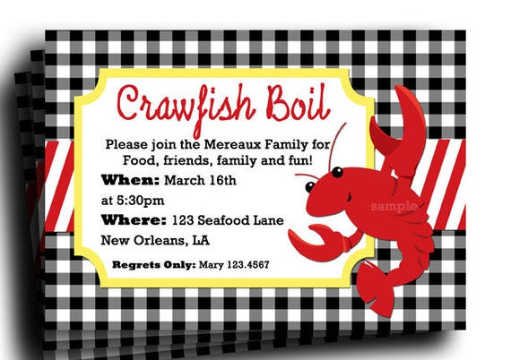 Breathtaking image pertaining to crawfish boil invitations free printable