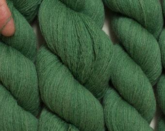 Blue Green Sage Recycled Merino Yarn, 544 Yards Available, Lace Weight Green Merino Yarn
