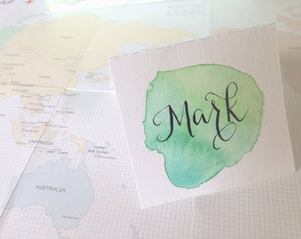 Custom Place Cards- Hand Lettered Calligraphy