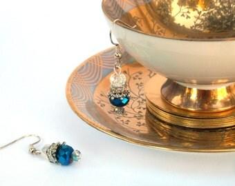 Duchess Blue Crystal Earrings