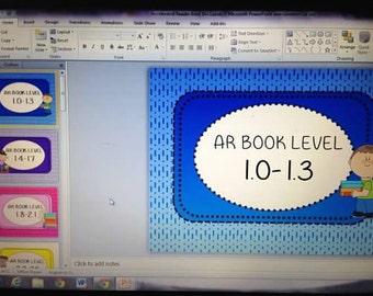 AR Book Bin Labels PRINTABLE download Teacher Classroom Accelerated Reader