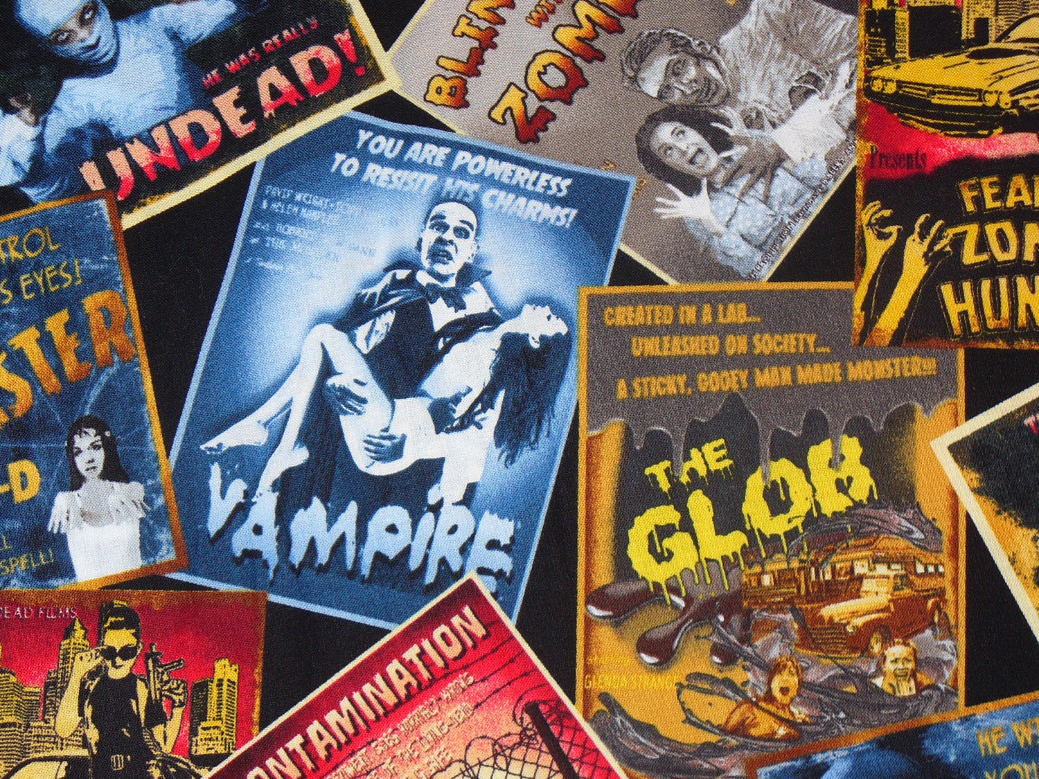 horror movie fabric undead movie posters zombies