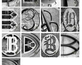 Letter B - Photos Taken from Guelph Ontario. Architectural Letter Art for Last Name Gift. Alphabet Pictures for Wedding Gift. Church Pic