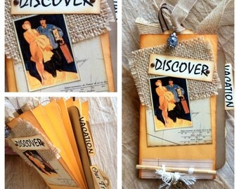 Discover Travel Envelope Accordion Album with Tags