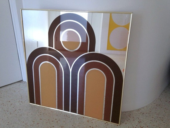 70s Pop Art Mirror / Glam Disco Wall Hanging / Mod Home Decor