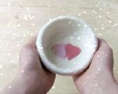 Ring dish - heart ring dish - Jewelry bowl - eco friendly wedding favor - felt ring bearer
