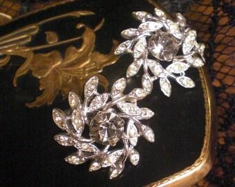 Sarah Cov Clip On Rhinestone Earrings