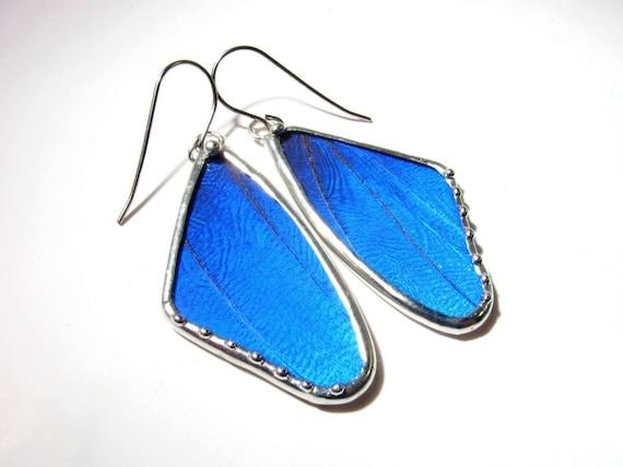 Butterfly Wing / Butterfly Earrings / Real Blue Morpho / Butterfly Jewelry