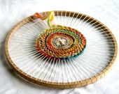 Round Weaving Loom for Children - wooden loom children chraft weavingloom