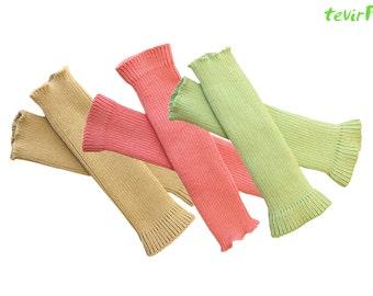 Arm Warmers - adult - 100% MERINO wool knit Women Ladies Fingerless gloves mittens mits thumbaround