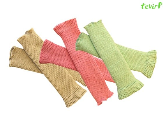 Arm Warmers - adult - 100% MERINO wool knit Women Ladies Fingerless gloves mittens mits thumbaround