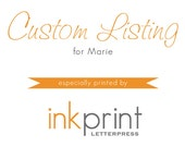 Custom Letterpress Business Cards  - 100 cards
