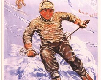 Sports in the USSR. Vintage propaganda, Soviet poster, Communism, 1947, #111