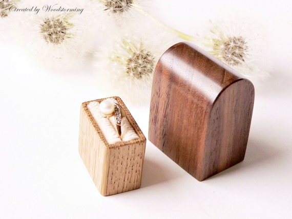 Engagement ring box - ring box - personalized gift - proposal ring box - wooden ring box by Woodstorming