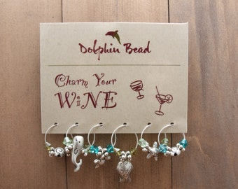 50 Wine Charm display cards printed with your logo - GLOSSY