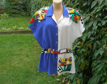 Gorgeous Blouse Vintage / size UK16 / 18 / EUR44 / 46 / Big Size