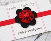 Ladybug Headband, Baby Girl, Toddler, Baby Gift,