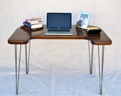 Desk - Solid Black Walnut - Mid-Century Modern