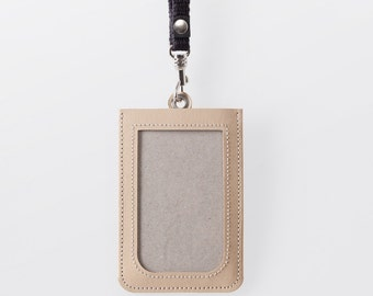 Washable Paper ID Badge Holder in Mojave Sand