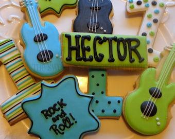 Rocker Birthday Cookies 2 dozen