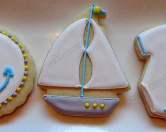 Nautical Baby Shower Cookies 2 dozen