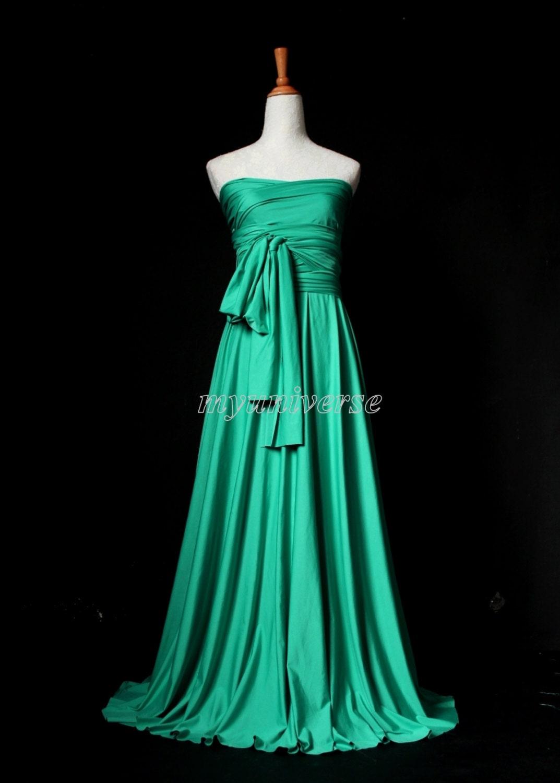 Jade green infinity dress bridesmaid wedding dress by for Jade green wedding dresses